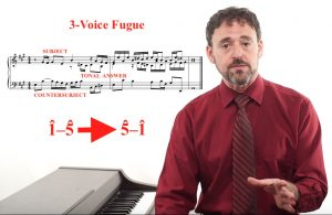 Aron Bernstein teaching a video lesson on music theory